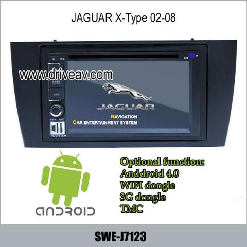 jaguar x type 02 08 radio car dvd player gps android 4 0 wifi 3g ipod swe j7123. Black Bedroom Furniture Sets. Home Design Ideas