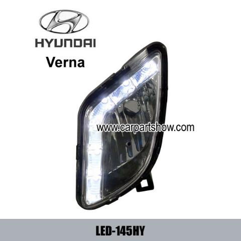 Hyundai Verna DRL LED Daytime Running Lights Car headlight parts Fog lamp cover LED-145HY