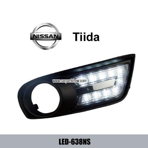 NISSAN TIIDA DRL LED Daytime Running Lights Car headlight parts Fog lamp cover LED-638NS