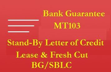 Providers of Fresh Cut BG, SBLC, POF, MTN, Bonds and CDs